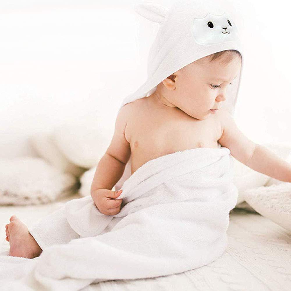 Neugeborenes Duschen Geschenk f/ür Jungen oder M/äDchen Naliovker Bio Bambus Baby Kapuzen Handtuch Und Super Saugf/äHiges Kleinkind Bade Tuch mit Kapuze Lammgesicht Gro/ßEs S/äUglings-