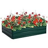 Giantex Dark Green 47.5''x35.5'' Patio Raised Garden Bed Vegetable Flower Plant Dark Green(47.5''x35.5'')