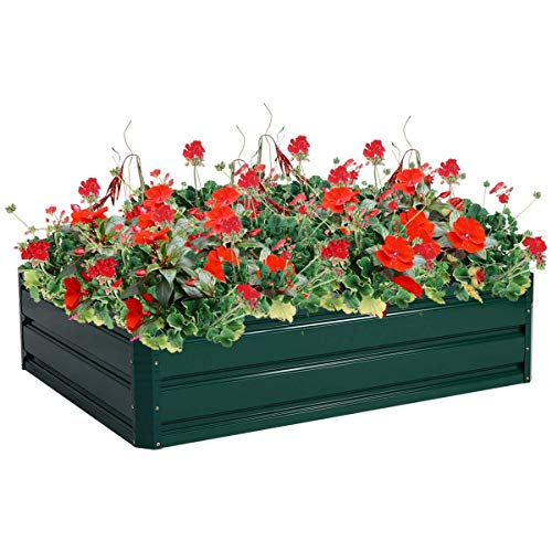 "Giantex Dark Green 47.5""x35.5"" Patio Raised Garden Bed Vegetable Flower Plant Dark Green(47.5""x35.5"")"