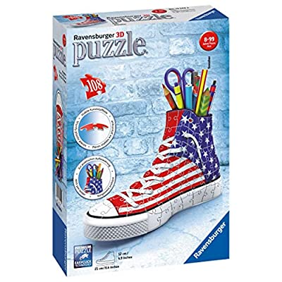Ravensburger Sneaker American Style 108 Piece 3D Jigsaw Puzzle for Kids and Adults - Easy Click Technology Means Pieces Fit Together Perfectly: Varios: Toys & Games