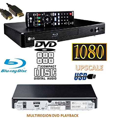 LG BP250 Bluray Player (European REGION)/DVD (MULTIREGION) /CD Player, Remote/Compact/Black with Up-scaling and External…