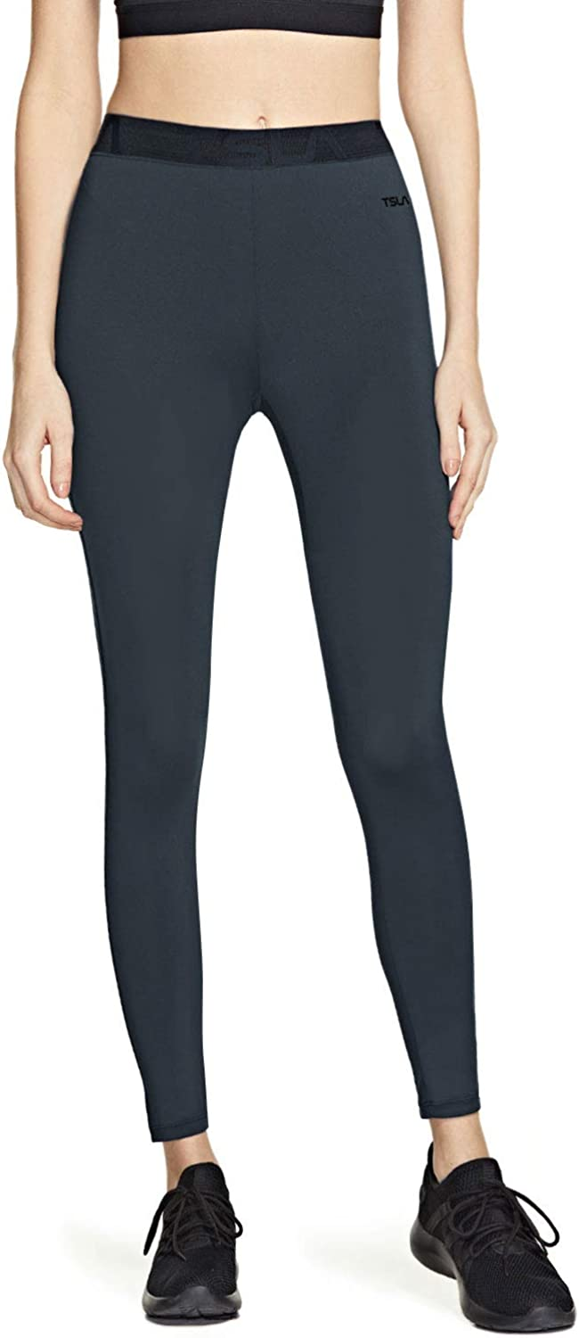 TSLA Women's Compression Baselayer Pants Casual Cool Dry Yoga Active Leggings Tights