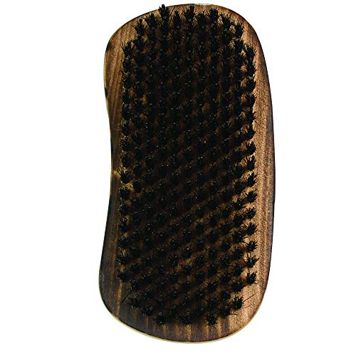 Wet Brush Original Styler Detangler Hair Brush with Beard, Moustache & Hair Dense Boar Bristles Palm Brush, Men's Knots Removing Hair Detangling Comb for All Hair Types (Burnt Wood) (Wet Massage)