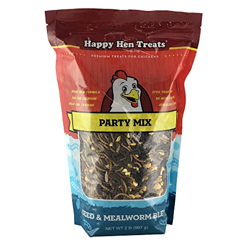 Happy Hen Treats Party Mix Seed And Mealworm, 2 Lb (The Best Laying Hens)