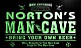 qd1466-g NORTON's Man Cave Soccer Football Neon Beer Sign