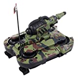 Costzon 2.4G 12CH Amphibious RC Battle Tank Land and Sea 4WD Remote Control Vehicle