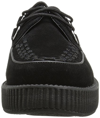 T Creeper Sneaker Sole Donna K Black Round Basse U Low Nero rwSX7Yrq