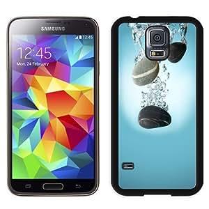 NEW Unique Custom Designed Samsung Galaxy S5 I9600 G900a G900v G900p G900t G900w Phone Case With Pebbles Water Drop Spash_Black Phone Case
