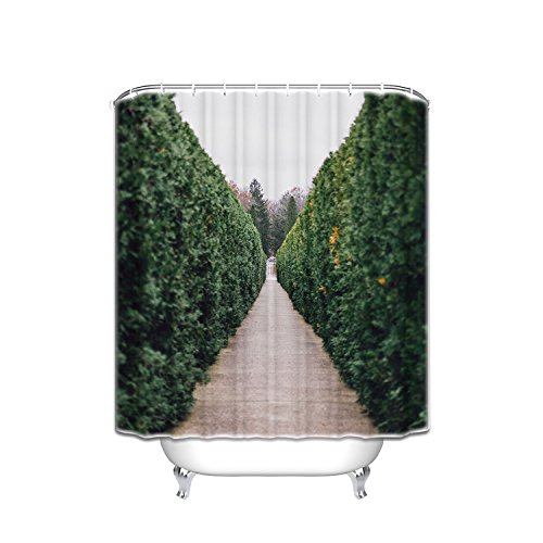 Prime Leader Custom Shower Curtains Tree Garden Nature Waterproof Polyester Fabric Shower Curtain 48