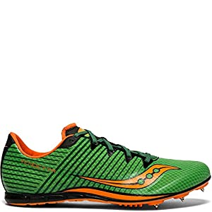 Saucony Men's Vendetta 2 Track and Field Shoe, Slime/Orange, 10.5 Medium US