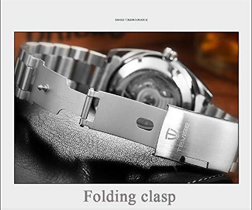 Leisont-märke av tevise mekaniska automatiska mekaniska klockor mäns automatiska klocka för män automatisk Relogio man stål TEVISE 3 Steel Tevise 2
