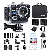 WIMIUS - Action Cam 4K WIFI Fotocamera Subacquea Impermeabile HD 20MP