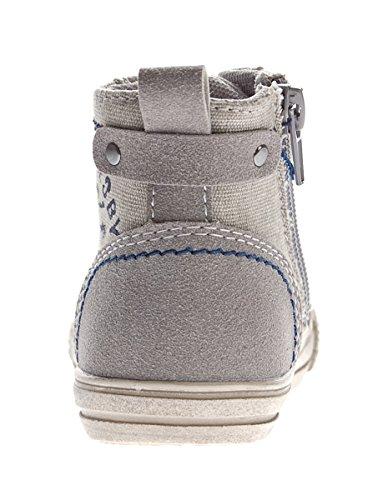 Slobby Kinder Knöchel Schuhe Sneaker Halbhoch Jungen Mädchen Schnürer Gr. 22-28 Grau