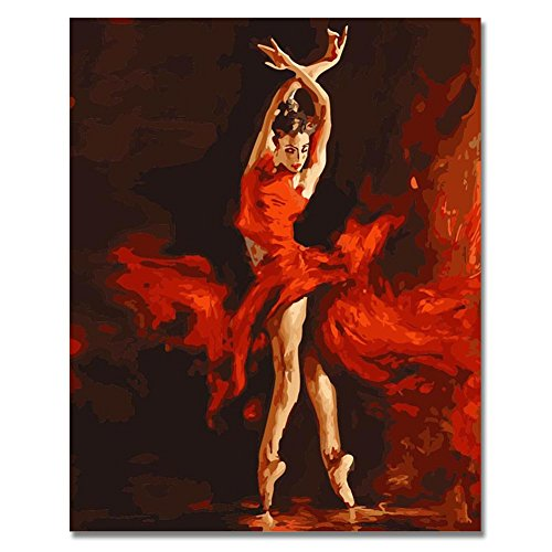 (Rihe Ballerina Paintworks Paint By Number Diy Oil Painting-Ballet Dancer 1620 Inch (Frameless))