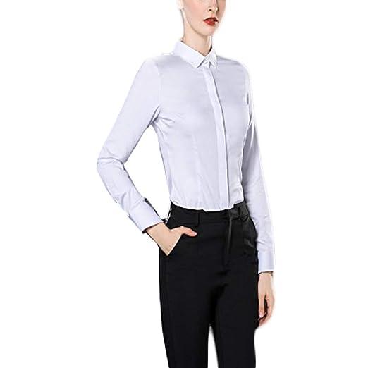 Fiyomet - Camisa de Manga Larga de Fibra de bambú para Mujer ...