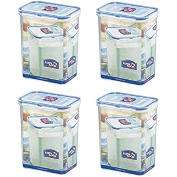 (Pack Of 4) LOCK U0026 LOCK Airtight Rectangular Tall Food Storage Container  60.87