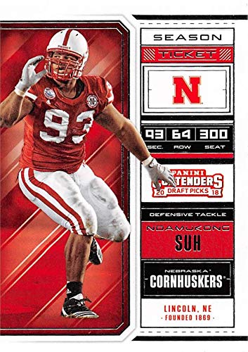 6c5da80f0 Image Unavailable. Image not available for. Color  Ndamukong Suh football  card (Nebraska ...