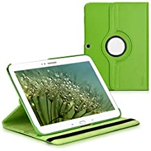 kwmobile 360° Case Samsung Galaxy Tab 3 10.1 P5200/P5210 - PU Leather Protective Tablet Cover Stand Function - Green