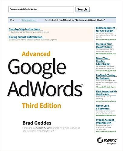 Book Advanced Google AdWords