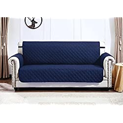 Argstar Reversible Large Couch Cover Furniture Protector Slipcover for Sofa Navy Blue/Gray (3-4 Seater)