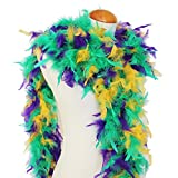 Cynthia's Feathers 65g Chandelle Feather Boas Over 80 Colors & Patterns To Pick Up (Mardi Gras)