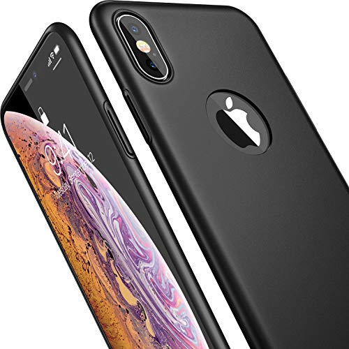 CASEKOO iPhone Xs Case, Ultra Thin Slim Fit Xs Case, Hard Matte Finish (Logo Visible) with Great Grip Anti-Scratch Cover Case Only for iPhone Xs 5.8 inch [Shell Series] - ()