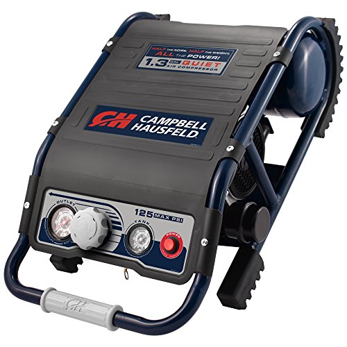 Quiet Air Compressor, Lightweight 29 Lbs, 1.3 gallon Slim Suitcase, Half The Noise, 4X The Life, All The Power (Campbell Hausfeld DC010500) by Campbell Hausfeld