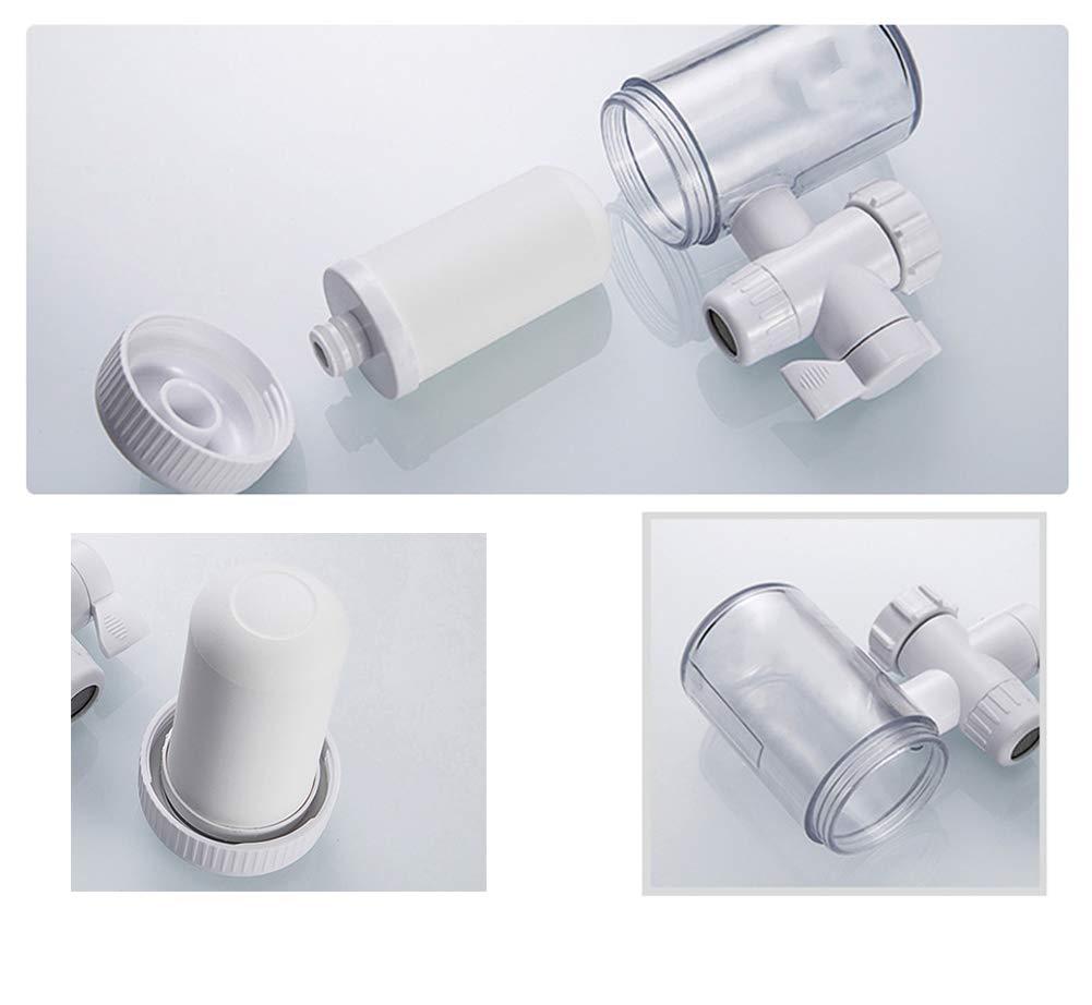 Purificador de agua para grifo reemplazable, con ventana visual transparente con filtro de cerámica lavable Purificador de agua con núcleo, Dispositivo de ...