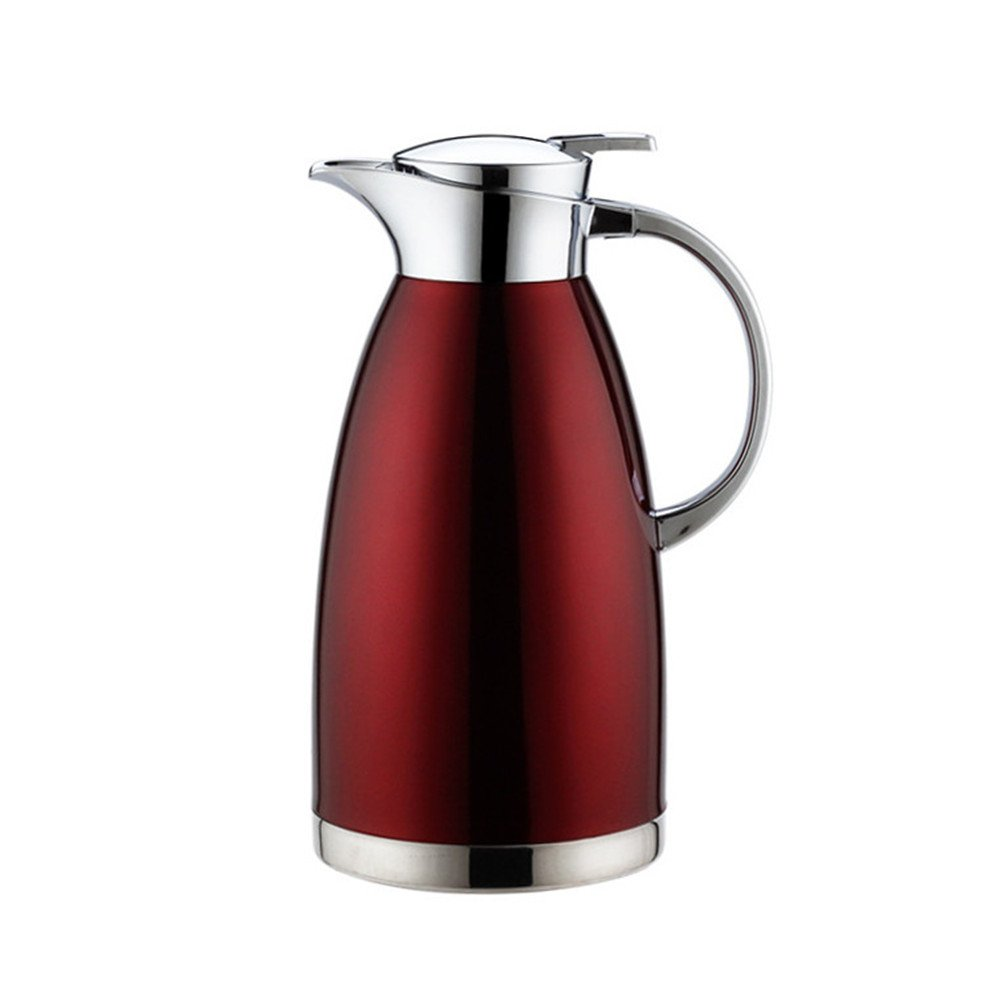 MEGOOD 2.3L/78 oz Stainless Steel Thermal Coffee Carafe,Double Walled Vacuum Insulated Drink Dispenser Coffee Milk Water Pitcher (Red)