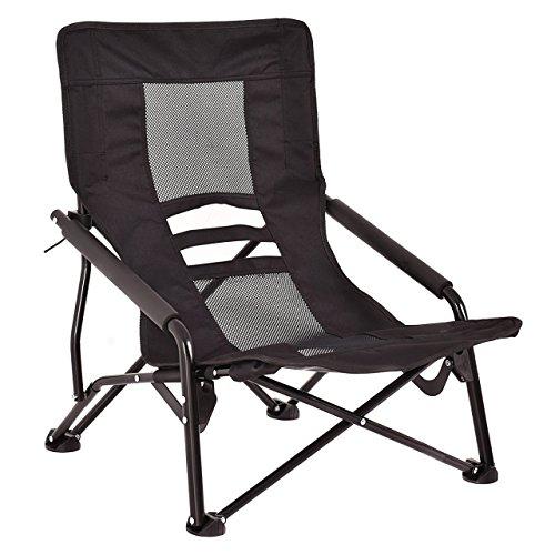 Portable Outdoor High-Back Folding Beach Camping Chair Furniture Mesh Seat Black #667 (Outdoor Bunnings Furniture Australia)