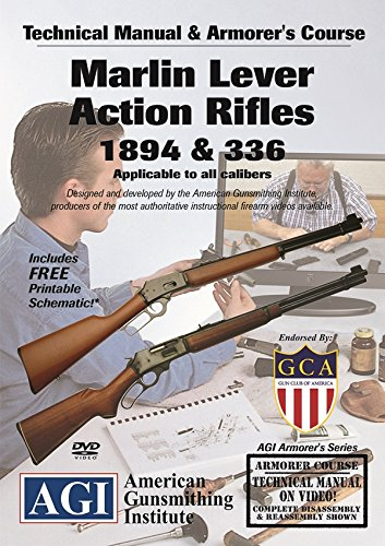 American Gunsmithing Institute Armorer's Course Video on DVD for Marlin Lever Action Rifles - 1894 & 336 - Technical Instructions for Disassembly, Cleaning, Reassembly and More