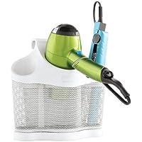 3 Storage Style Station Hair Polder Organizer Dryer Holder Care Iron White