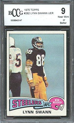 1975 topps #282 LYNN SWANN pittsburgh steelers rookie card BGS BCCG 9 Graded Card (Lynn Swann Pittsburgh Steelers)