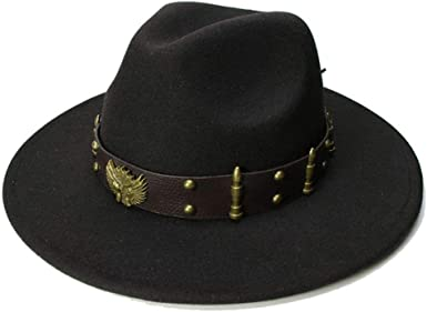 Fedora Hats Classic Timeless Warm Wool Felt Hat Winter Unisex Vintage Wide Brim Jazz Hat Trilby Caps with Band
