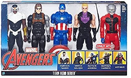 MARVEL Vengadores Avengers Titan Hero Series Pack 5 Figuras ...
