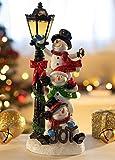 VP Home Joyful Christmas Snowman Trio with Glowing
