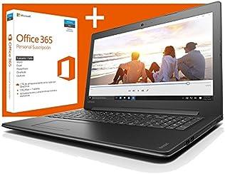 """Lenovo Ideapad 310-15ABR - Portátil de 15.6"""" HD (AMD A10-9600P, 12 GB de RAM, disco HDD de 1 TB, gráfica Radeon R5 de 2 GB, Windows 10 Home + Licencia 1 año Office 365), color negro - Teclado QWERTY Español"""