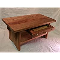 Deluxe Personal Altar with Shelf & Small Drawer - EarthBench - Solid BUTTERNUT (White Walnut) 20×11×10tall