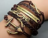 Best Anchor Gifts - Friendship Gifts Infinity Bracelet Anchor Bracelet Love Charm Review