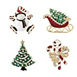 Jewelry Christmas Brooch Pins set Holiday Brooch Christmas Tree Snowman Xmas Pin Lot Party Favor Christmas Brooch Pin Set gifts jewerly christmas brooches pins set