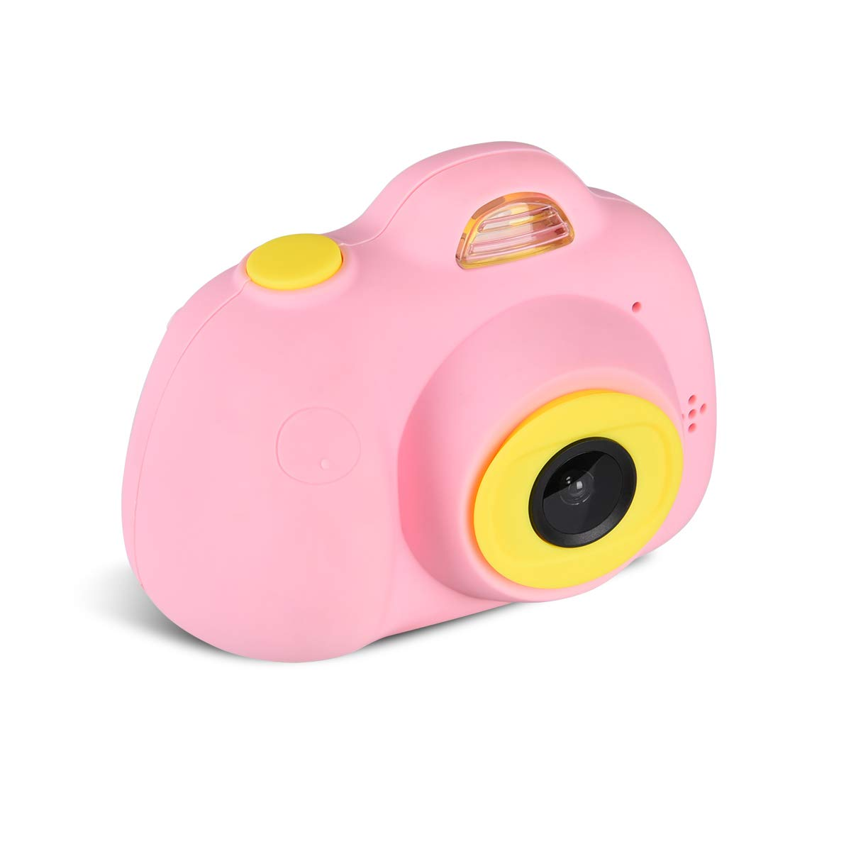 Tyhbelle Kids Camera Video Recorder Anti-Dropping Dual Camera Kids Toy with 16G TF/Micro SD Card (Pink)