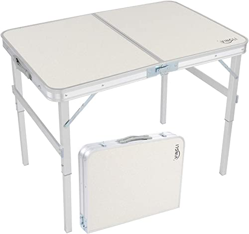 VINGLI 3FT Aluminum Folding Table,35.4''L x 23.6''W