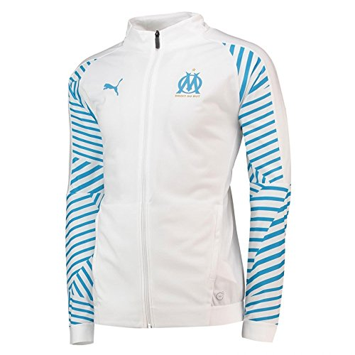 PUMA 2018-2019 Olympique Marseille Stadium Jacket (White)