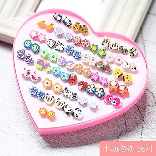 TBSOTB Earrings Earring Dangler Eardrop Women Girls Gift Woman Mini Hypoallergenic Plastic Ear Bones Box (d-009- Small Animal Models by TBSOTB
