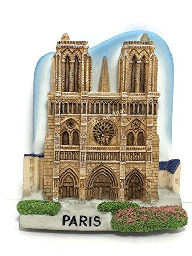 Notre-Dame Cathedral De Paris France Magnet Paris Souvenir Resin 3D Fridge Magnet Tourist Gift ()