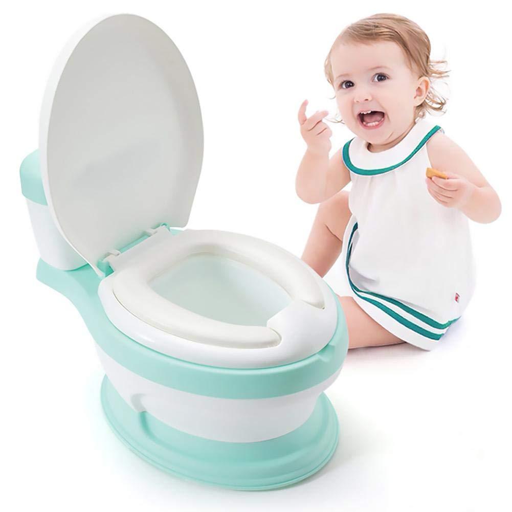 Luerme Baby Trainingstoilette T/öpfchenstuhl Kinder Simulation Toilette Babytopf Tragbare Toilette f/ür Ihre Jungen und M/ädchen