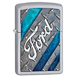 Zippo Ford Color Lighter, Satin Chrome