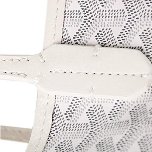 Stylesty Fashion Shopping PU Tote Bag, Designer Shoulder Handbags with Key Ring … (Medium, White1) by Stylesty (Image #3)