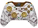 """""""Money Talks w/ShotGun Thumbsticks, Dpad and Real Gold 9 mm Bullet Buttons"""" Xbox One Rapid Fire Modded Controller Pro Finish 40 Mods"""