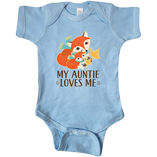 Fox Infant Creeper (inktastic Auntie Loves Me Woodland Fox Infant Creeper 6 Months Baby Blue 2db18)